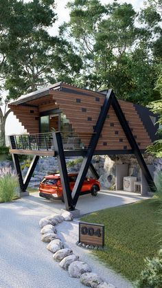Now You Can Build ANY Shed In A Weekend Even If You've Zero Woodworking Experience! Start building amazing sheds the easier way with a collection of 12,000 shed plans! #shedhouse #shedoftheyear #shedideas #sheddesigns #shedplans #shed Container House Plans, Container House Design, Small House Design, Modern House Design, Modern Tiny House, Tiny House Cabin, Tiny House Living, Casas Containers, A Frame House