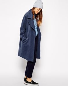 Navy is one of my favorite colours this season! This coat is just the perfect choice for this AW14 as it's classy, comfy and has a cool oversize feel.  Find it here: http://asos.to/WThyAb