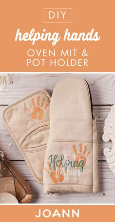 A handmade gift is sure to make Mother's Day extra-special. Check out this tutorial from JOANN to learn how to make this DIY Helping Hands Oven Mitt and Potholder for an important women in your life. Pot Holder Crafts, Pot Holders, Mother's Day Projects, Helping Hands, Fabric Storage, Craft Party, Joanns Fabric And Crafts, Perfect Party, Step By Step Instructions