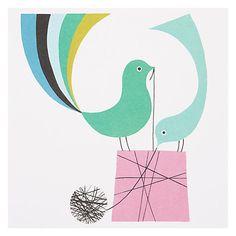 Buy ArtPress Birthday Birds Greeting Card Online at johnlewis.com