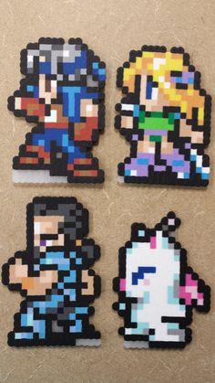 Final Fantasy VI choose your party perler sprites by LilacMoogle