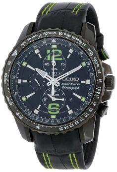 Seiko men watches: Seiko Men's SNAE97 Sportura-Aviator Watch