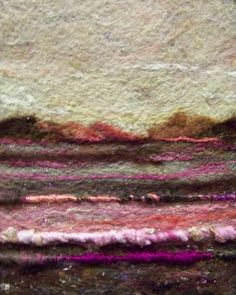 No466 Pink Field  Needlefelt Art Large by Deebs on Etsy, $62.00
