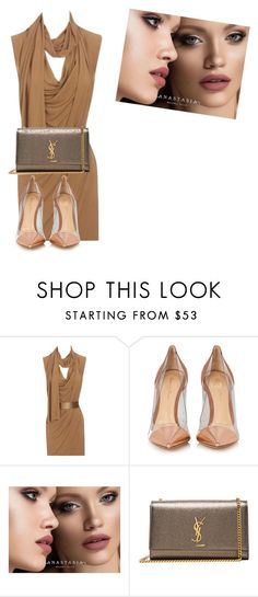 """Untitled #795"" by ludyabelieveinme ❤ liked on Polyvore featuring Alexander McQueen, Gianvito Rossi, Anastasia Beverly Hills and Yves Saint Laurent"