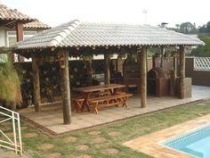 Pergola For Sale Cheap Info: 4637445091 Backyard Layout, Backyard Gazebo, Patio Roof, Concrete Patios, Wooden Summer House, Bamboo Roof, Gazebo Plans, Cabin House Plans, Outdoor Living