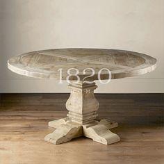 Американский / французский страна / Nordic утилизацию старого дерева колыбель паркет дерево обеденный стол большой круглый стол - Taobao