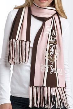 Juicy Couture 'House of Juicy' Pink Merino Wool Scarf