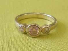SOLD  Vintage Pink and Clear Princess Cut CZ by EternalElementsEtsy