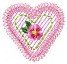 Rose Heart Applique - 4x4 | Mini Designs | Machine Embroidery Designs | SWAKembroidery.com Oma's Place