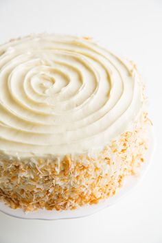 Hummingbird Cake with Cream Cheese Frosting - a banana cake with a tropicals twist. So good and perfect for Easter!