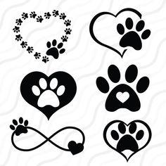 Paw Print Art, Art Prints, Dog Paw Prints, Paw Print Crafts, Dog Tattoos, Small Tattoos, Dog Paws, Svg Cuts, Painted Rocks