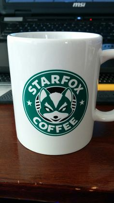 """Can't let you brew that, Star Fox!"" http://www.levelupstudios.com/starfox-coffee-mug"