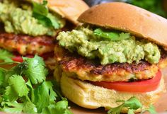 These shrimp burgers with fresh guacamole look amazing! Change up your typical burger game with this recipe from Will Cook For Smiles.