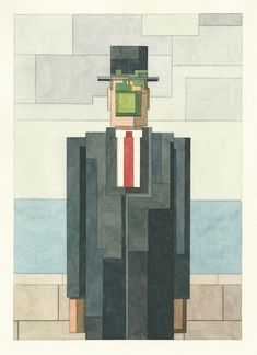 New '8 Bit Watercolor Paintings Inspired by Atari and Nintendo Graphics by Adam Lister