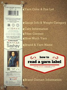 Learn How to Read a Yarn Label