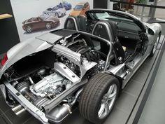 Porsche Boxster cutaway