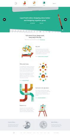 LayerVault's 100% flat design. #flatdesign #webdesign