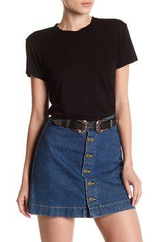 Genetic Denim Toni Classic Fit Tee with Denim Skirt