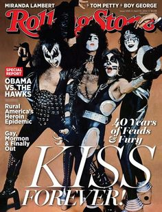 Le groupe #Kiss fait la couverture du Magazine Rolling Stone The Rolling Stones, Paul Stanley, Gene Simmons, Glam Rock, Kiss Rock, Kiss Forever, Eric Singer, Banda Kiss, Rock Hall Of Fame