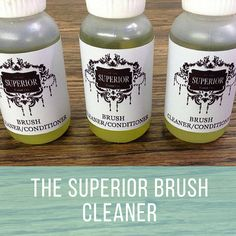 The Superior Chalk Painting Brush Cleaner 100% natural strengthens, conditions, preserves and deodorizes your tired brushes!  Shop Now: http://www.superiorpaintco.ca/listing/271565233/superior-chalk-paint-brush-cleaner-and