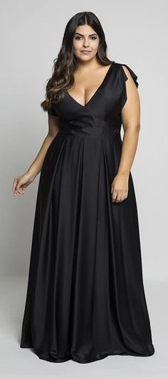 Best Plus Size Dress Models - You are always in fashion - Plus Size Long Black Dress - Best Plus Size Dresses, Plus Size Gowns, Evening Dresses Plus Size, Plus Size Maxi Dresses, Plus Size Outfits, Nice Dresses, Summer Dresses, Plus Size Fashion For Women, Plus Size Womens Clothing