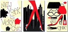 Tableaux numériques design Trio New York is very chic
