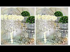Purple Mason Jars, Painted Mason Jars, Dollar Tree Decor, Dollar Tree Crafts, Hanging Crystals, Diy Crystals, Birthday Centerpieces, Diy Centerpieces, Glam Lamps