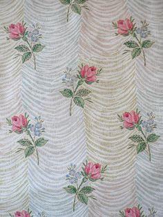 50s roses vintage wallpaper