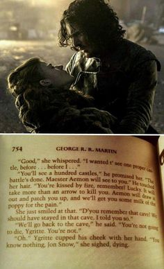 My heart just ripped into pieces just to give it to Jon Snow. ;(