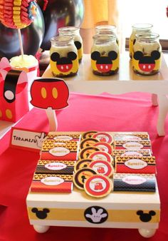 Mickey Mouse baptism party treats! See more party ideas at CatchMyParty.com!