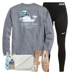 """""""Untitled #286"""" by valerienwashington ❤ liked on Polyvore featuring NIKE, UGG Australia, Kate Spade, S'well and Casetify"""