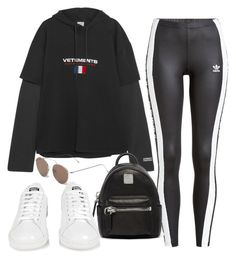 """""""Untitled #3991"""" by camilae97 ❤ liked on Polyvore featuring adidas Originals, Vetements, MCM, adidas and Illesteva"""