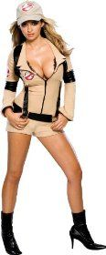 Sexy Ghostbusters Outfit for Women. Includes cap and proton pack.