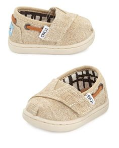 Tiny+Burlap+Bimini+Shoe,+Natural+by+TOMS+at+Neiman+Marcus.