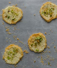 Parmesan Pistachio Crisps