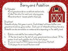 Barnyard addition game