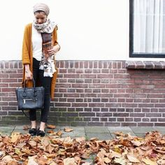 mustard-cardigan-hijab-look- Smart and cute hijab outfits http://www.justtrendygirls.com/smart-and-cute-hijab-outfits/