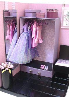 Doll Divas - Create custom storage/closet for 1:6 dolls.