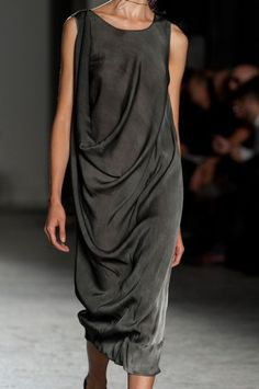 I saw this dress in person at a shop in Charleston - it is just as good as in the photo. Uma Wang Spring 2014