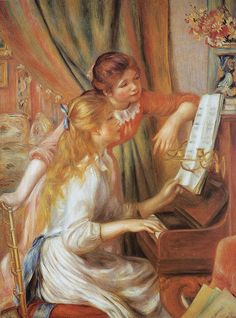 Pierre August Renoir: At the piano ; Musee d'Orsay
