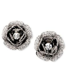 Betsey Johnson Rose Bud Stud Earrings (Voodoo Doll Listening Party)
