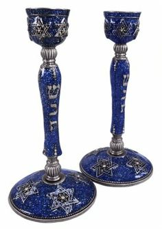 Jewish Judaica Pair of Royal Blue Star of David Shabbat Candlesticks Welforth,http://www.amazon.com/dp/B00ELSKOEE/ref=cm_sw_r_pi_dp_iOY0sb0V6R47MP32 Use these on your wedding table and for the rest of your life on Shabbat