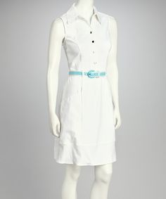 As the temperature rises, so do the hemlines. When the weather warms up, opt for this fresh-fashioned frock dressed in a crisp solid with a waist-cinching belt. $27.00.  Love the vintage look!!!!