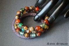 """Купить Браслет """"Солнце в кронах"""" - браслет, браслет на руку, браслет из камней, браслет с камнями, bracelet, mineral, bead, bijoux,"""
