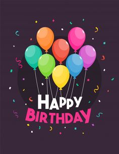 Happy birthday template vector illustration Premium Vector