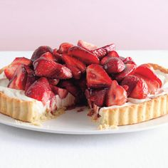Strawberry Mascarpone Tart with Port Glaze Recipe Desserts with all-purpose flour, granulated sugar, salt, unsalted butter, large egg yolks, pure vanilla extract, fresh lemon juice, cold water, strawberries, granulated sugar, ruby port, mascarpone, confectioners sugar, fresh lemon juice, grated lemon zest, pure vanilla extract