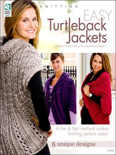 Easy Turtleback Jackets Knitting Pattern Book Download from e-PatternsCentral.com -- If you can knit a square or rectangle, you can make all of these jackets! The result is a very comfortable and loose-fitting jacket that is just right for any occasion.