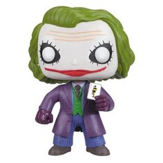 This The Joker Pop! figure turns The Joker from the Dark Knight movie into a cute, cuddly little collectible figure. Must have The Joker figure for fans!