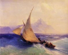 Rescue at Sea - Ivan Aivazovsky - Completion Date: 1872