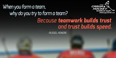 When you form a team, why do you form a team? Because teamwork builds trust and trust builds speed. Who is excited for ! Hockey News, Yeti Cooler, Wine Tumblers, Teamwork, World Cup, A Team, Trust, Mugs, Bottle